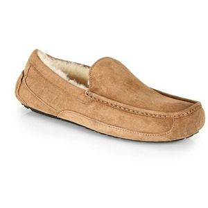 UGG Ascot suede shearling slippers. 10